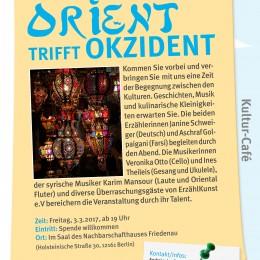 """Erzählkunst e.V. lädt ein: """"Orient trifft Okzident"""", Berlin, 3.3.,19 h"""