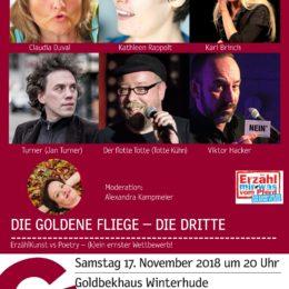 Die Goldene Fliege – Erzählkunst vs. Poetry, Hamburg, 17.11.2018, 20 h