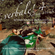 verbale! Internationales Erzählfestival Potsdam, 12.-14.9.2019