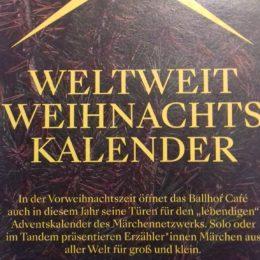 Lebendig erzählter Adventskalender im Ballhof Café Hannover, 1.12.-20.12.2019 jeweils 17.30-18.00 h