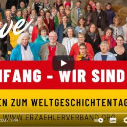 """Am 20.3. ist Weltgeschichtentag! Das diesjährige Motto: """"Neubeginn"""""""