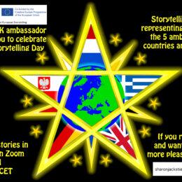 FEST Federation of European Storyteller-Ambassadors laden ein zum Weltgeschichtenabend, Zoom, 21.3.21, 19.45 h